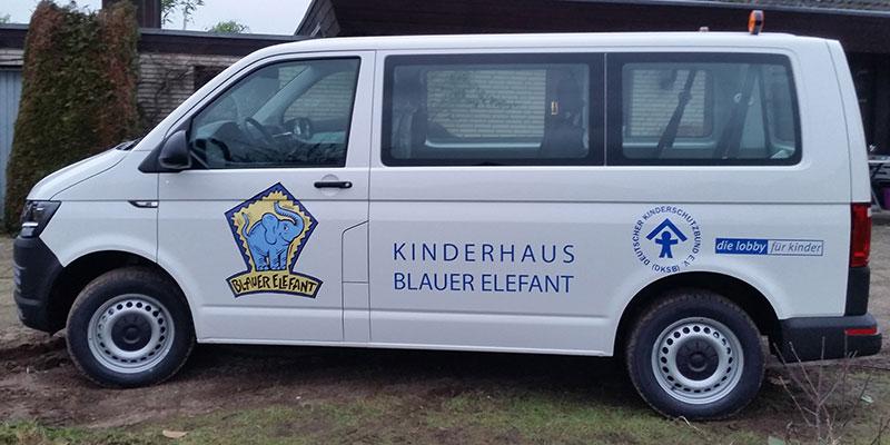 """Autobeschriftung / Transporterbeschriftung """"Blauer Elefant"""""""